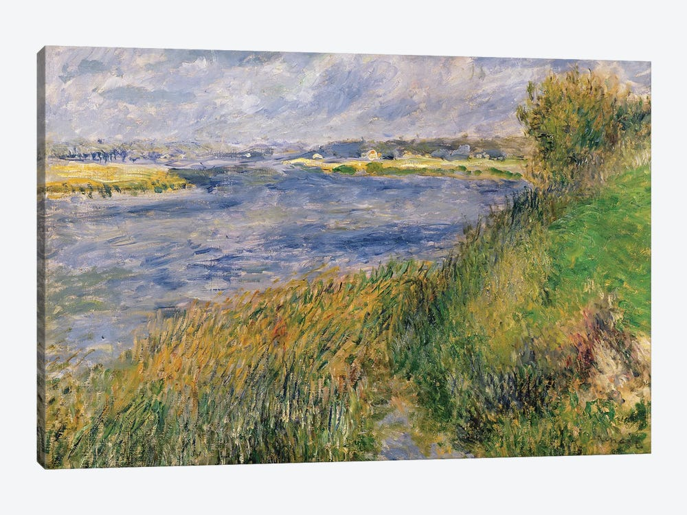 The Banks of the Seine, Champrosay, 1876  by Pierre-Auguste Renoir 1-piece Canvas Art Print