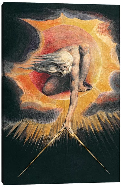 "The Ancient Of Days (Illustration From ""Europe a Prophecy"" Copy D), 1794 Canvas Art Print"