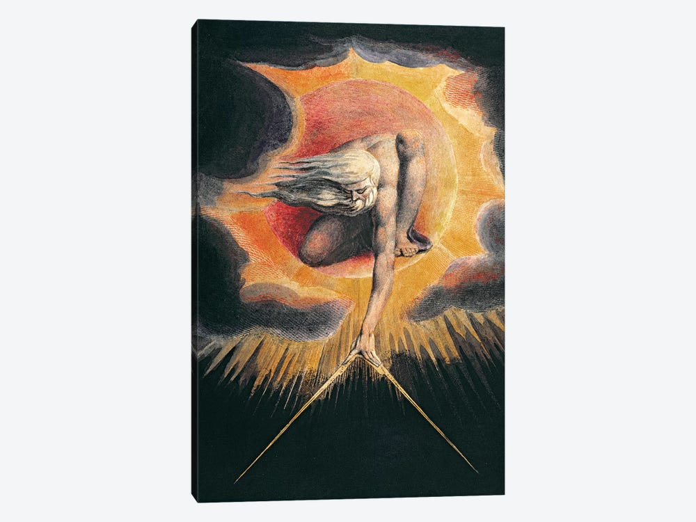 "The Ancient Of Days (Illustration From ""Europe a Prophecy"" Copy D), 1794 by William Blake 1-piece Canvas Wall Art"