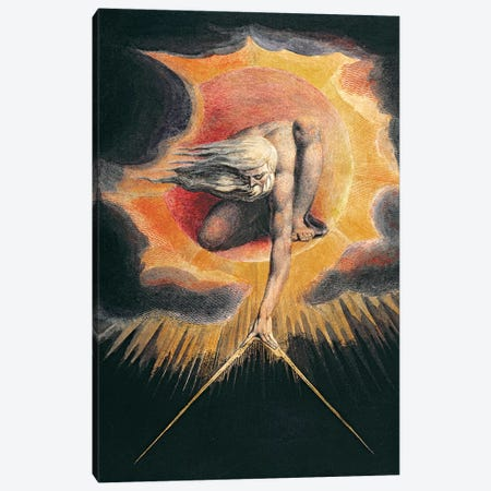 """The Ancient Of Days (Illustration From """"Europe a Prophecy"""" Copy D), 1794 Canvas Print #BMN7240} by William Blake Canvas Artwork"""