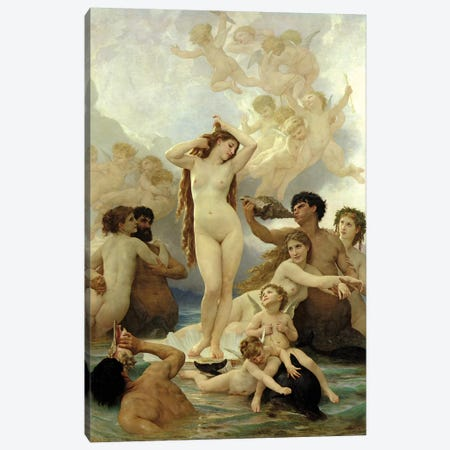 The Birth Of Venus, 1879 Canvas Print #BMN7244} by William-Adolphe Bouguereau Art Print