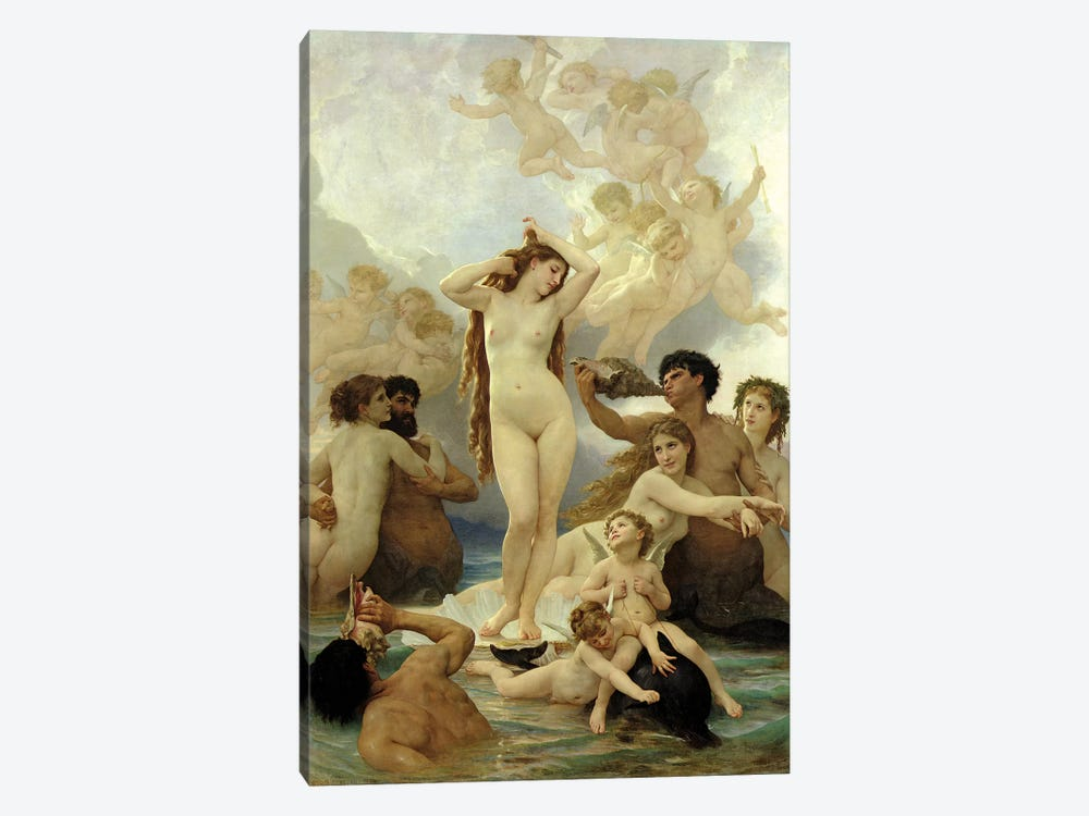 The Birth Of Venus, 1879 by William-Adolphe Bouguereau 1-piece Canvas Artwork