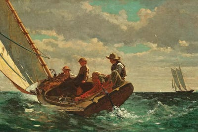 WINSLOW HOMER/'S BREEZING UP A FAIR WIND REPRO Art Print A4 A3 A2 A1