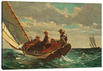 Breezing Up ( A Fair Wind), 1873-76 Canvas Art Print