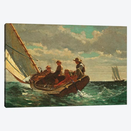 Breezing Up ( A Fair Wind), 1873-76 Canvas Print #BMN7245} by Winslow Homer Canvas Art Print