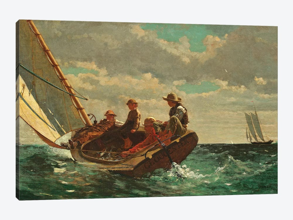 Breezing Up ( A Fair Wind), 1873-76 by Winslow Homer 1-piece Canvas Print