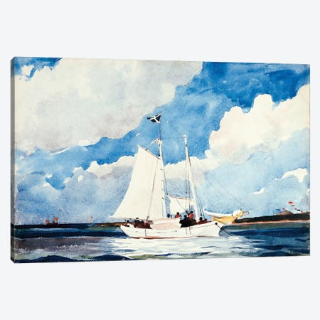Fishing Schooner, Nassau, c.1898-99 Canvas Print #BMN7246} by Winslow Homer Art Print
