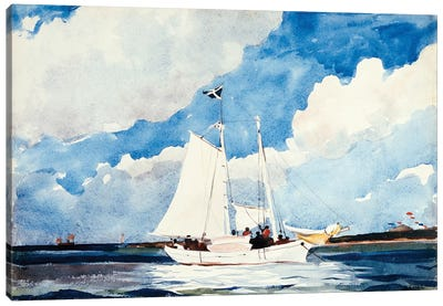 Fishing Schooner, Nassau, c.1898-99 Canvas Art Print