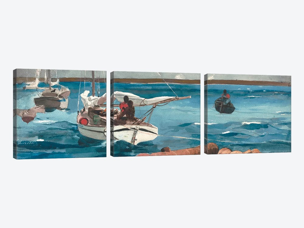 Nassau, 1899 by Winslow Homer 3-piece Canvas Print
