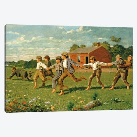 Snap The Whip, 1872 (Metropolitan Museum Of Art, NYC) Canvas Print #BMN7251} by Winslow Homer Art Print