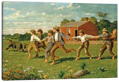 Snap The Whip, 1872 (Metropolitan Museum Of Art, NYC) Canvas Art Print