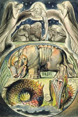 Behemoth And Leviathan (after William Blake) Ca...   John Linnell   iCanvas