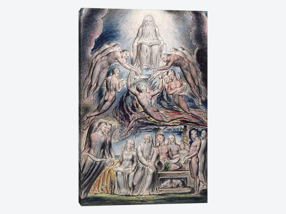 Satan Before The Throne Of God (after William Blake) by John Linnell 1-piece Canvas Wall Art