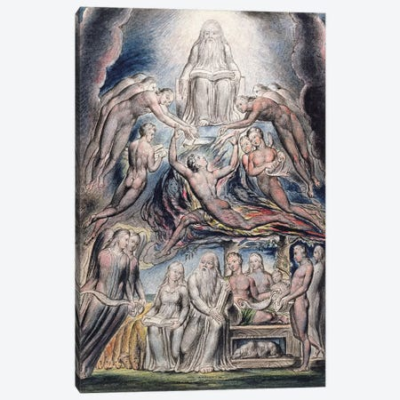 Satan Before The Throne Of God (after William Blake) Canvas Print #BMN7255} by John Linnell Canvas Art