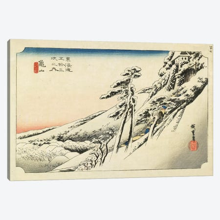 Clear Weather After Snow, Kameyama, c.1833 (Minneapolis Institute Of Art) Canvas Print #BMN7257} by Utagawa Hiroshige Canvas Art