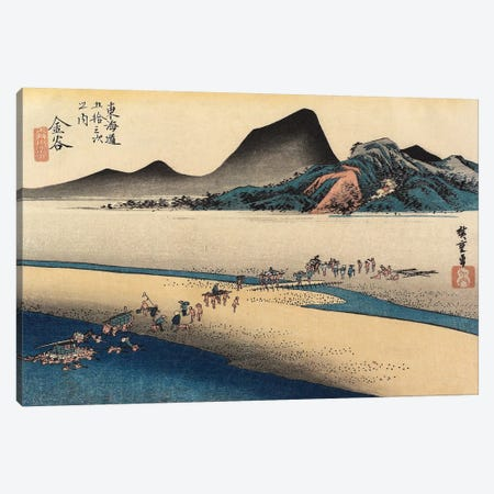 Distant Bank Of Oi River, Kanaya, c. 1833 (Minneapolis Institute Of Art) Canvas Print #BMN7258} by Utagawa Hiroshige Canvas Print