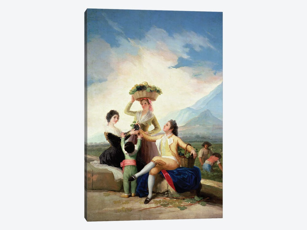 Autumn, or The Grape Harvest, 1786-87  by Francisco Goya 1-piece Art Print