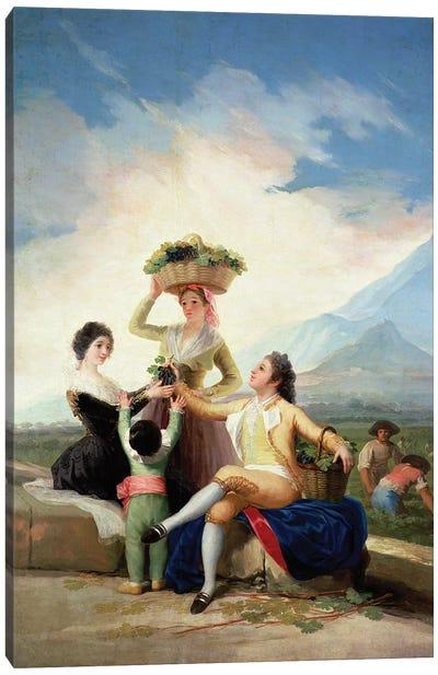 Autumn, or The Grape Harvest, 1786-87  Canvas Art Print