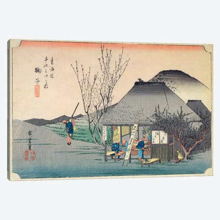 Mariko: Teahouse Known For Its Specialty, c.1834-35 (Musees d'Angers) Canvas Print #BMN7264} by Utagawa Hiroshige Canvas Print