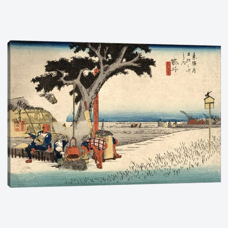 Tea Stall, Fukuroi, c.1833 (Free Library Of Philadelphia) Canvas Print #BMN7268} by Utagawa Hiroshige Canvas Wall Art