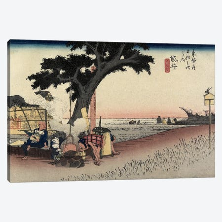 Tea Stall, Fukuroi, c.1833 (Minneapolis Institute Of Art - Variation I) Canvas Print #BMN7269} by Utagawa Hiroshige Canvas Wall Art