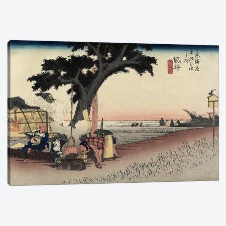 Tea Stall, Fukuroi, c.1833 (Minneapolis Institute Of Art - Variation I) Canvas Print #BMN7269} by Utagawa Hiroshige Canvas Wall Art