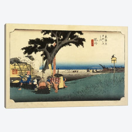 Tea Stall, Fukuroi, c.1833 (Minneapolis Institute Of Art - Variation II) Canvas Print #BMN7270} by Utagawa Hiroshige Art Print