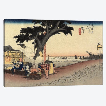 Tea Stall, Fukuroi, c.1833 (Minneapolis Institute Of Art - Variation III) Canvas Print #BMN7271} by Utagawa Hiroshige Art Print