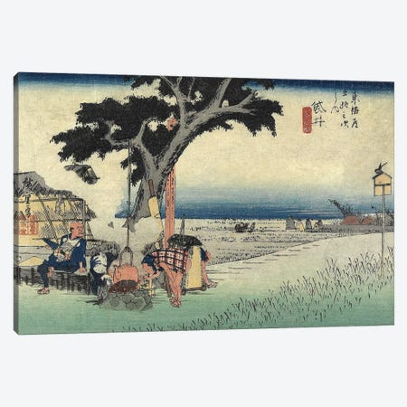 Tea Stall, Fukuroi, c.1833 (Minneapolis Institute Of Art - Variation IV) Canvas Print #BMN7272} by Utagawa Hiroshige Canvas Art Print