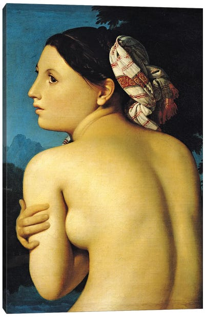 Female Nude, Bather (Baigneuse), 1807 Canvas Art Print