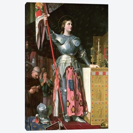 Joan Of Arc At The Coronation Of King Charles VII (17th July, 1429), 1854 Canvas Print #BMN7275} by Jean-Auguste-Dominique Ingres Canvas Art