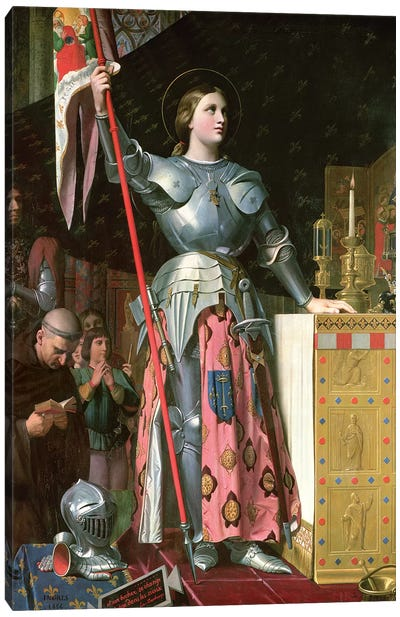 Joan Of Arc At The Coronation Of King Charles VII (17th July, 1429), 1854 Canvas Art Print