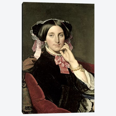 Madame Gonse, 1852 Canvas Print #BMN7276} by Jean-Auguste-Dominique Ingres Canvas Artwork