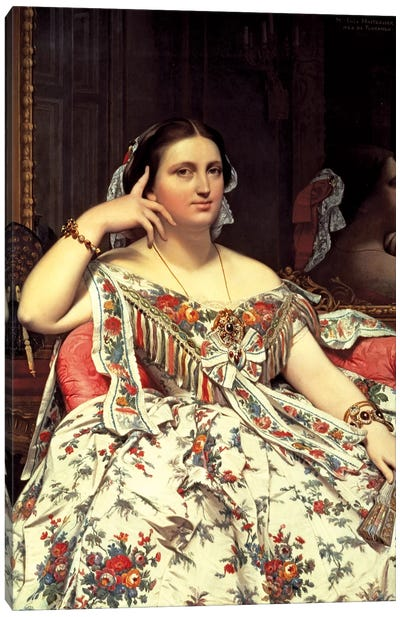 Madame Moitessier, 1856 Canvas Art Print