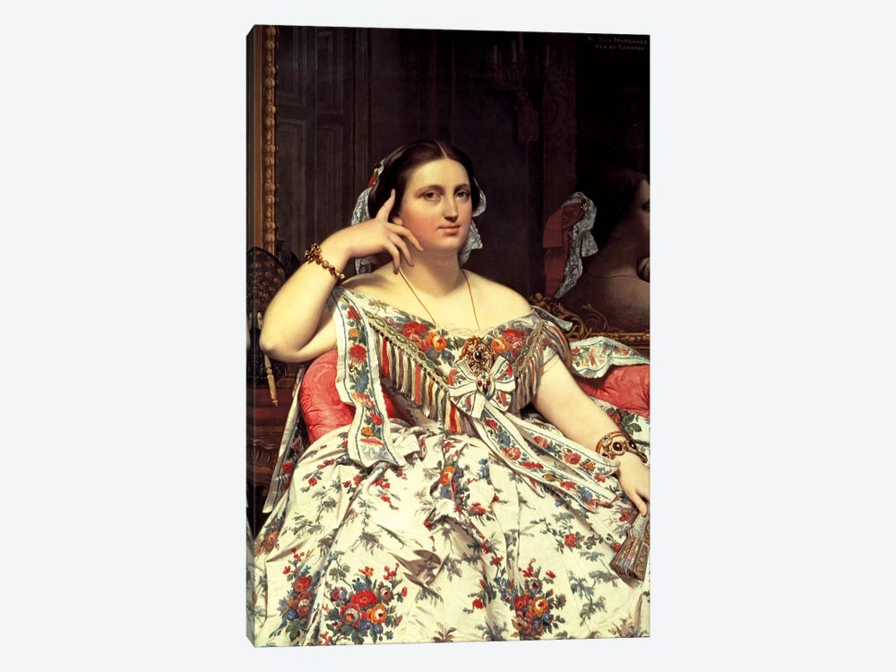 Madame Moitessier, 1856 by Jean-Auguste-Dominique Ingres 1-piece Canvas Art
