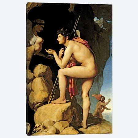 Oedipus And The Sphinx, 1808 Canvas Print #BMN7278} by Jean-Auguste-Dominique Ingres Canvas Print