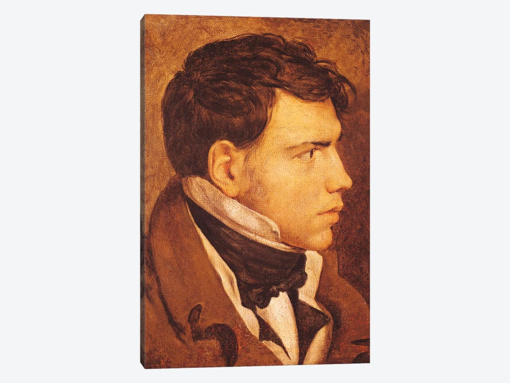 Portrait Of A Young Man by Jean-Auguste-Dominique Ingres 1-piece Canvas Artwork