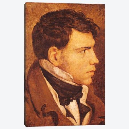 Portrait Of A Young Man Canvas Print #BMN7279} by Jean-Auguste-Dominique Ingres Canvas Art Print