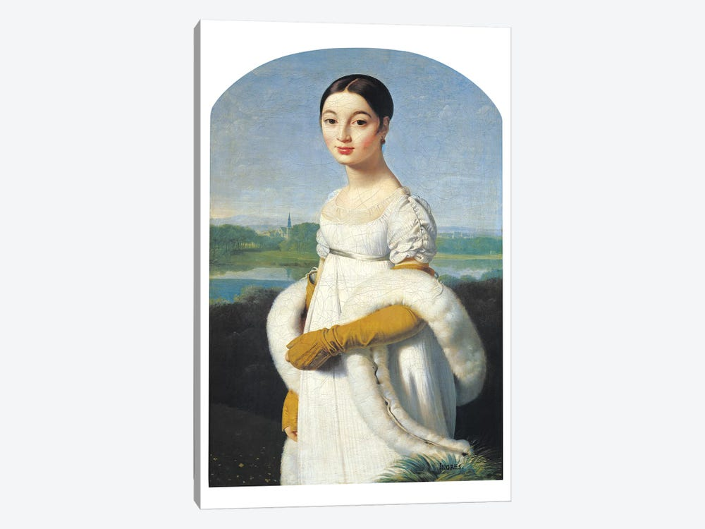 Portrait Of Mademoiselle Caroline Riviere, 1805 by Jean-Auguste-Dominique Ingres 1-piece Canvas Art