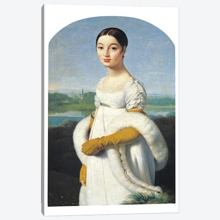 Portrait Of Mademoiselle Caroline Riviere, 1805 Canvas Print #BMN7280} by Jean-Auguste-Dominique Ingres Canvas Wall Art