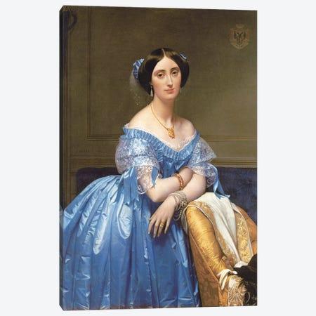 Portrait Of Princesse de Broglie, 1853 Canvas Print #BMN7281} by Jean-Auguste-Dominique Ingres Canvas Art