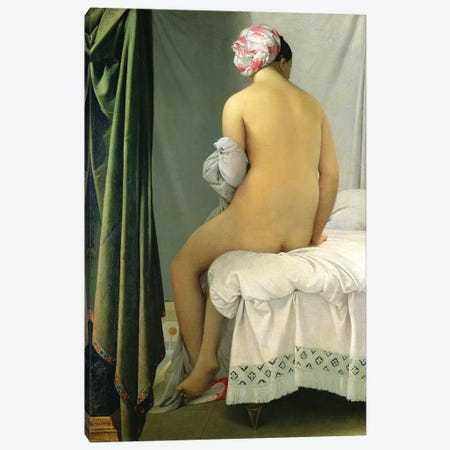 The Bather (Baigneuse Valpincon) Canvas Print #BMN7282} by Jean-Auguste-Dominique Ingres Canvas Wall Art