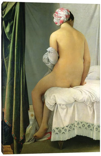 The Bather (Baigneuse Valpincon) Canvas Art Print