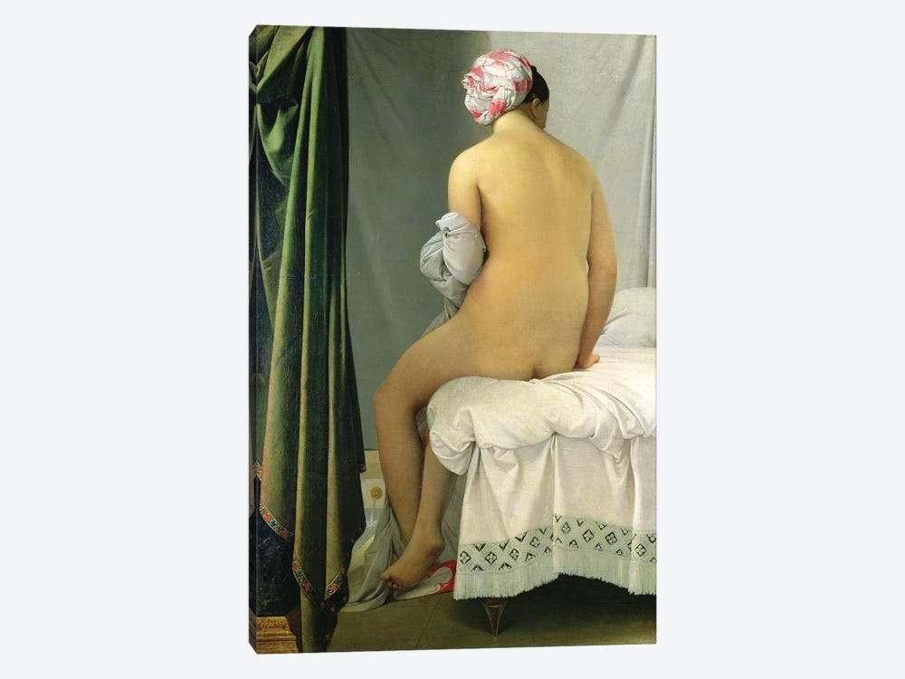 The Bather (Baigneuse Valpincon) by Jean-Auguste-Dominique Ingres 1-piece Canvas Art