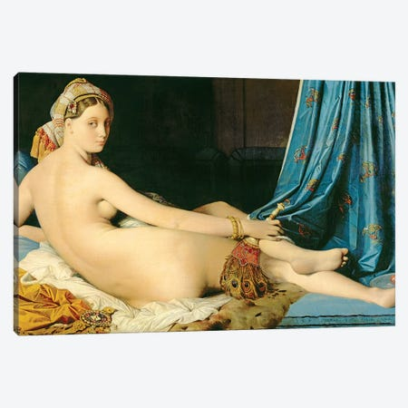 The Grande Odalisque, 1814 Canvas Print #BMN7283} by Jean-Auguste-Dominique Ingres Canvas Art