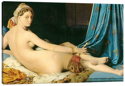 The Grande Odalisque, 1814 Canvas Art Print