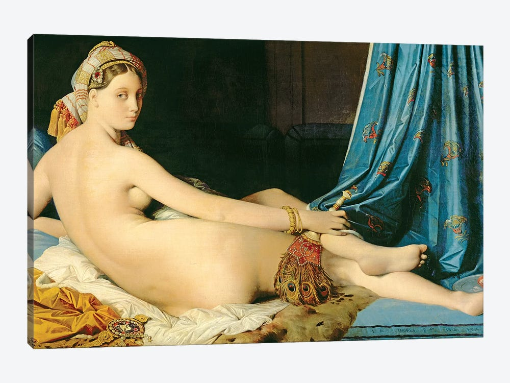 The Grande Odalisque, 1814 by Jean-Auguste-Dominique Ingres 1-piece Canvas Art Print