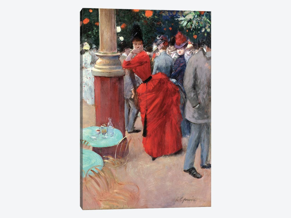 Le Jardin Public, c.1884 by Jean-Louis Forain 1-piece Canvas Art