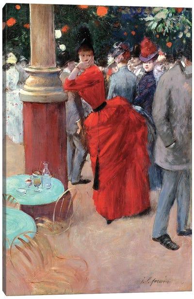 Le Jardin Public, c.1884 Canvas Art Print