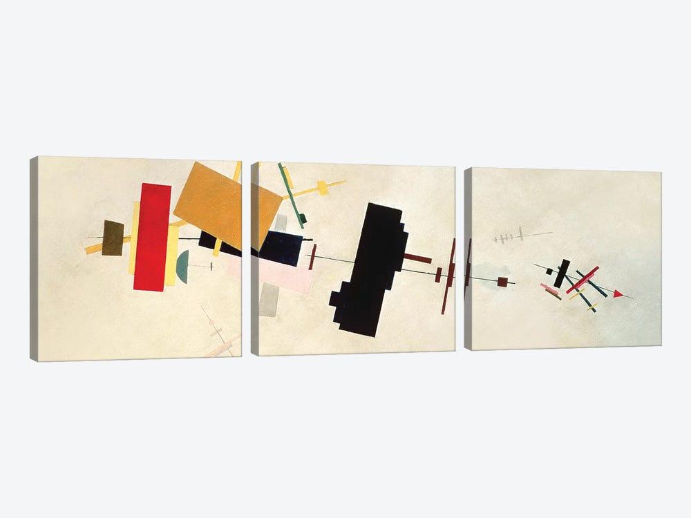 Suprematist Composition No. 56, 1936 by Kazimir Severinovich Malevich 3-piece Art Print